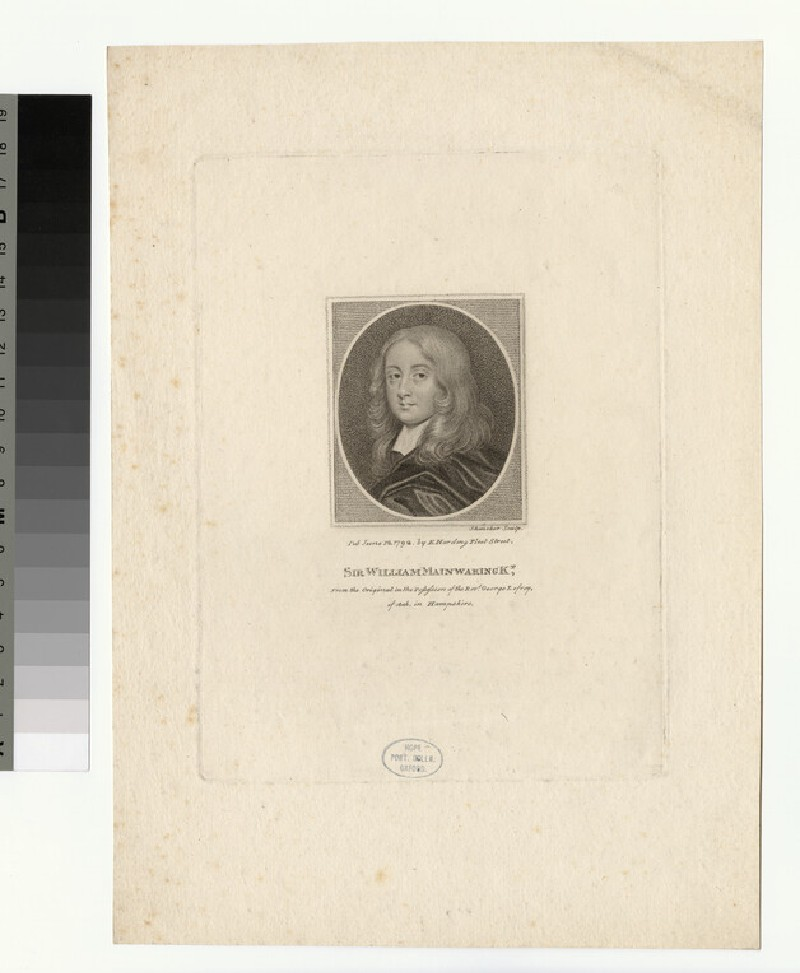 Portrait of William Mainwaring (WAHP27861)
