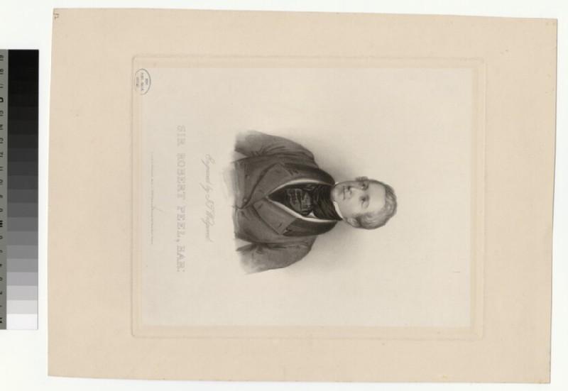 Portrait of R. Peel (WAHP28176)