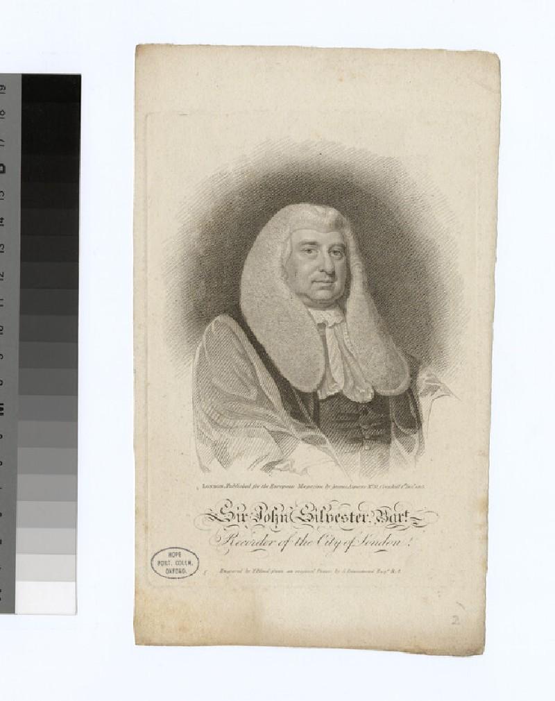Portrait of J. Silvester