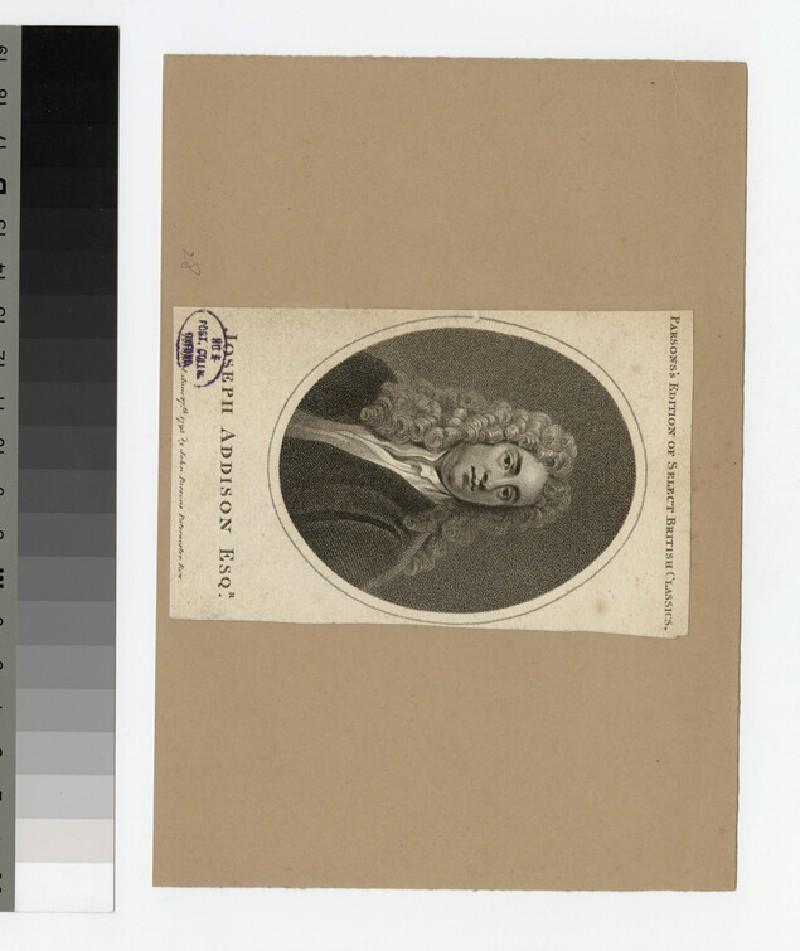 Portrait of J. Addison (WAHP30096)