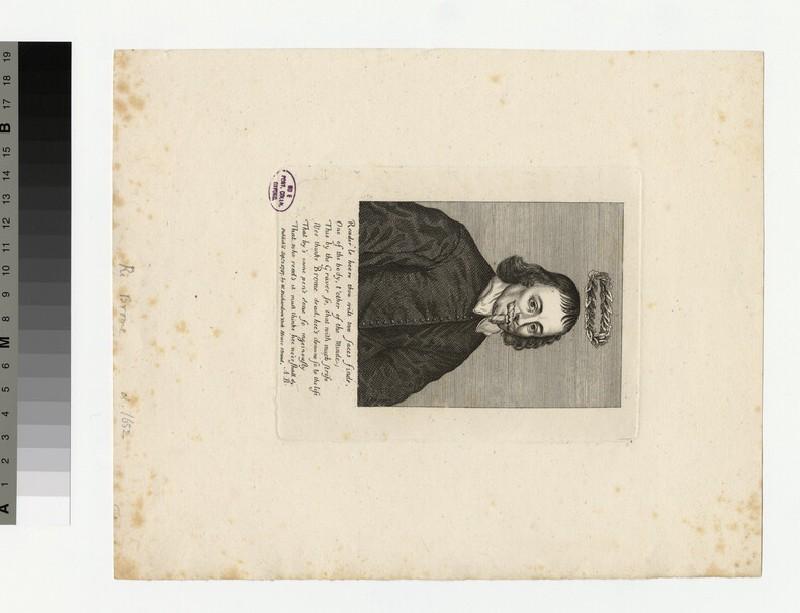 Portrait of R. Brome