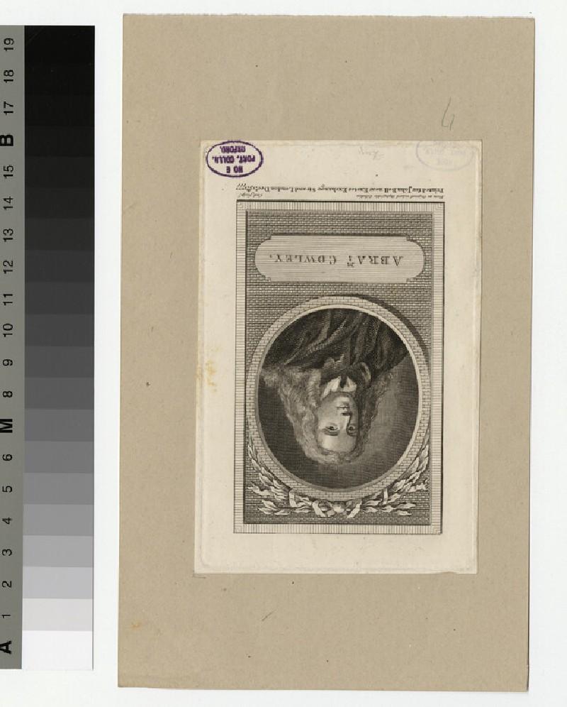 Portrait of A. Cowley