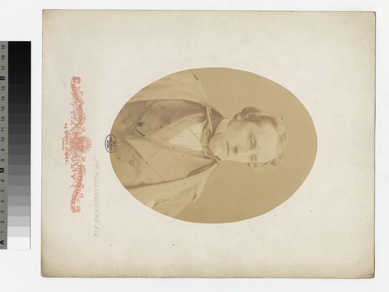 Portrait of J. Hollingshead (WAHP31431)