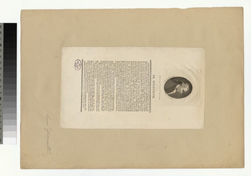 Portrait of O. Goldsmith (WAHP31548)