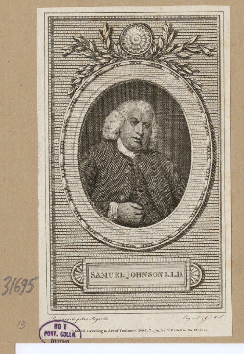 Portrait of S. Johnson