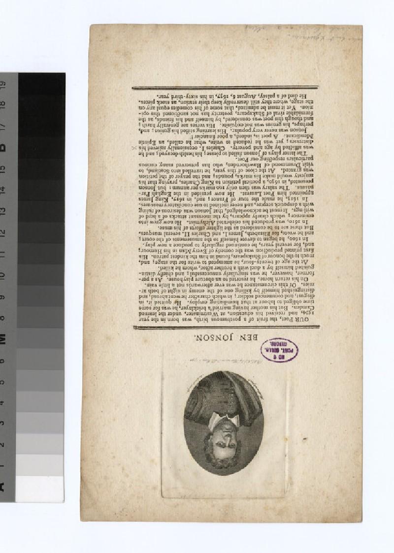 Portrait of B. Jonson (WAHP31740)
