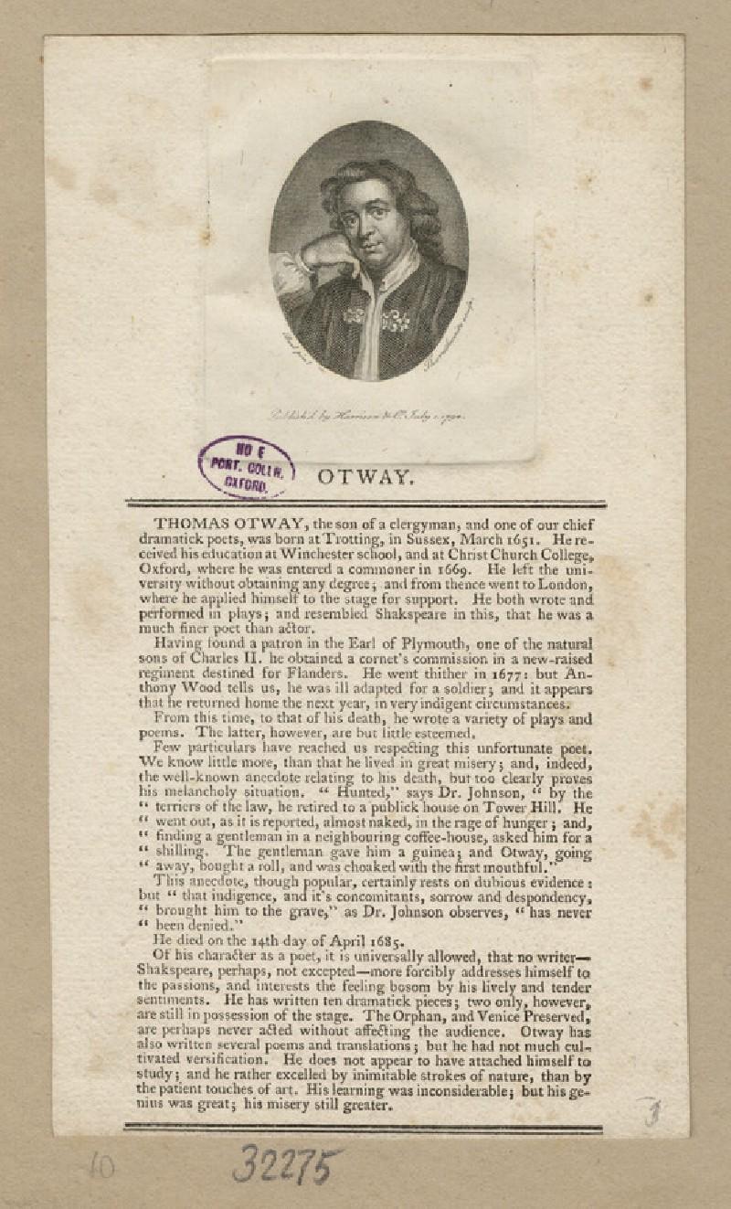 Portrait of Otway