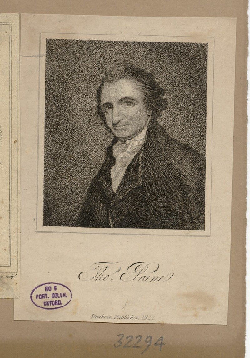 Portrait of T. Paine (WAHP32294)