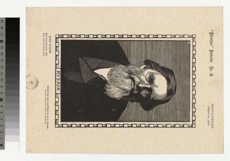 Portrait of J. Ruskin (WAHP32557)