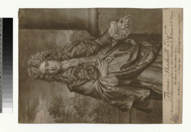 Portrait of Thomas Shadwell (WAHP32647)