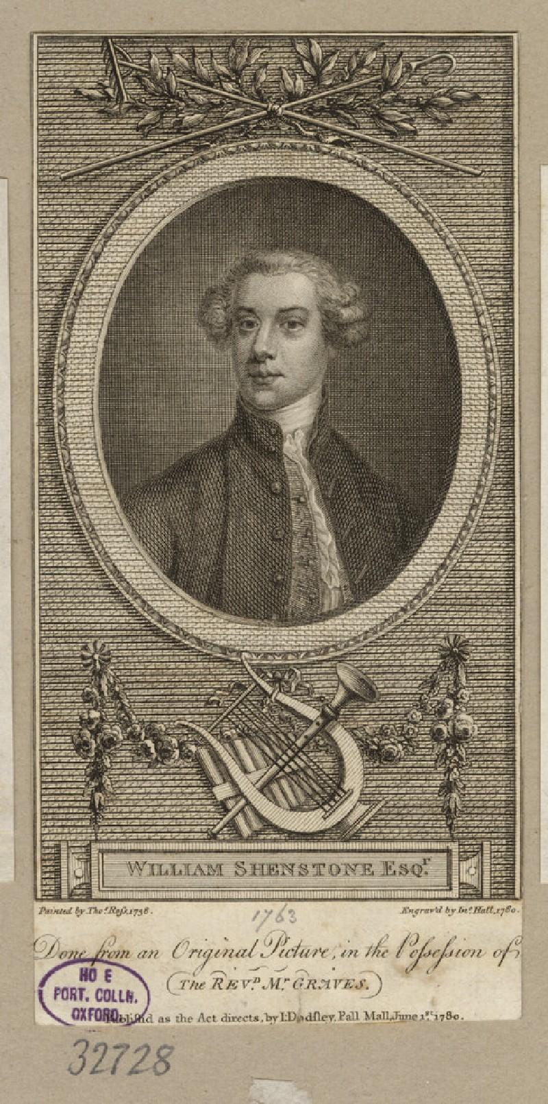 Portrait of W. Shenstone (WAHP32728)