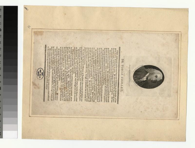 Portrait of Smollett (WAHP32821)