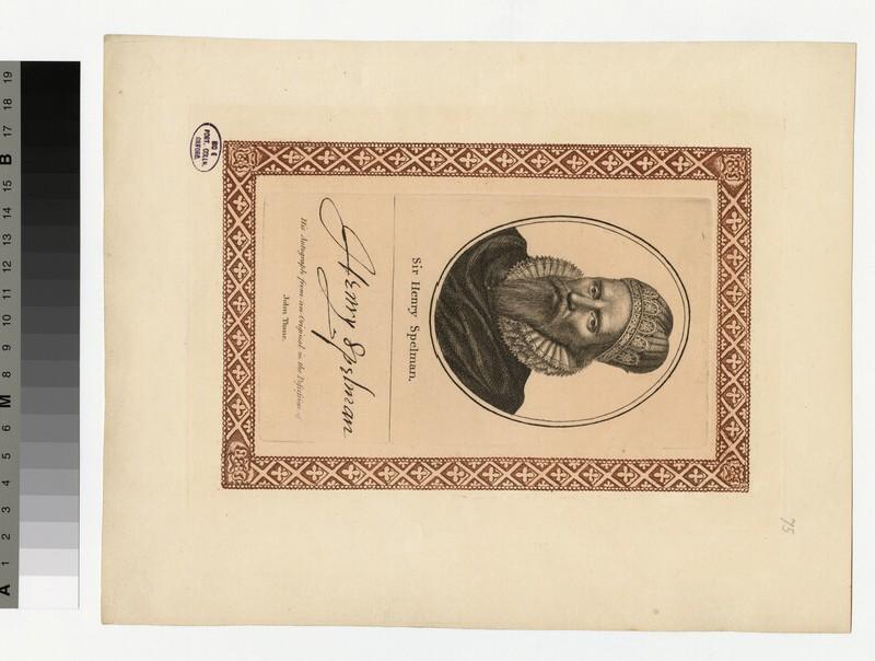 Portrait of H. Spelman