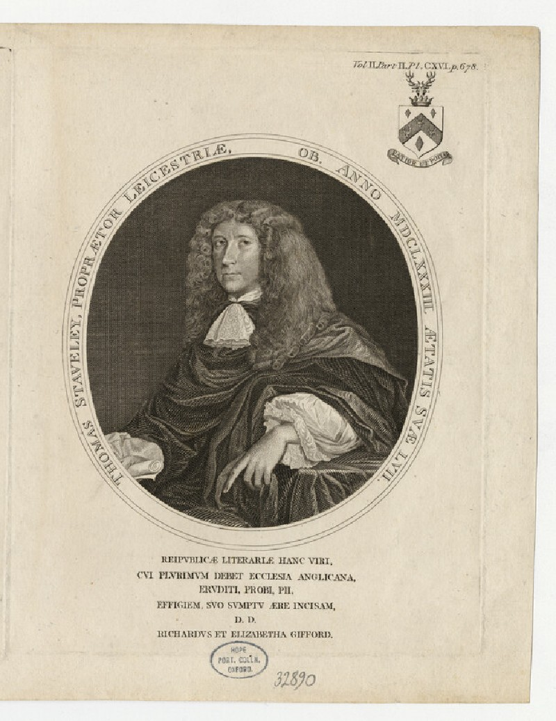 Portrait of Thomas Staveley (WAHP32890)