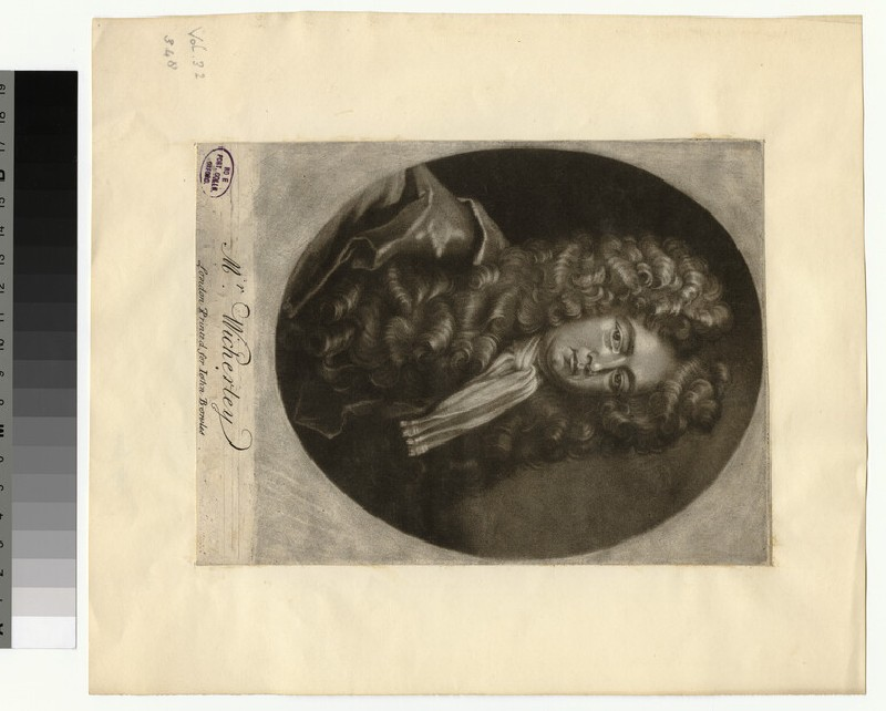 Portrait of W. Wycherley