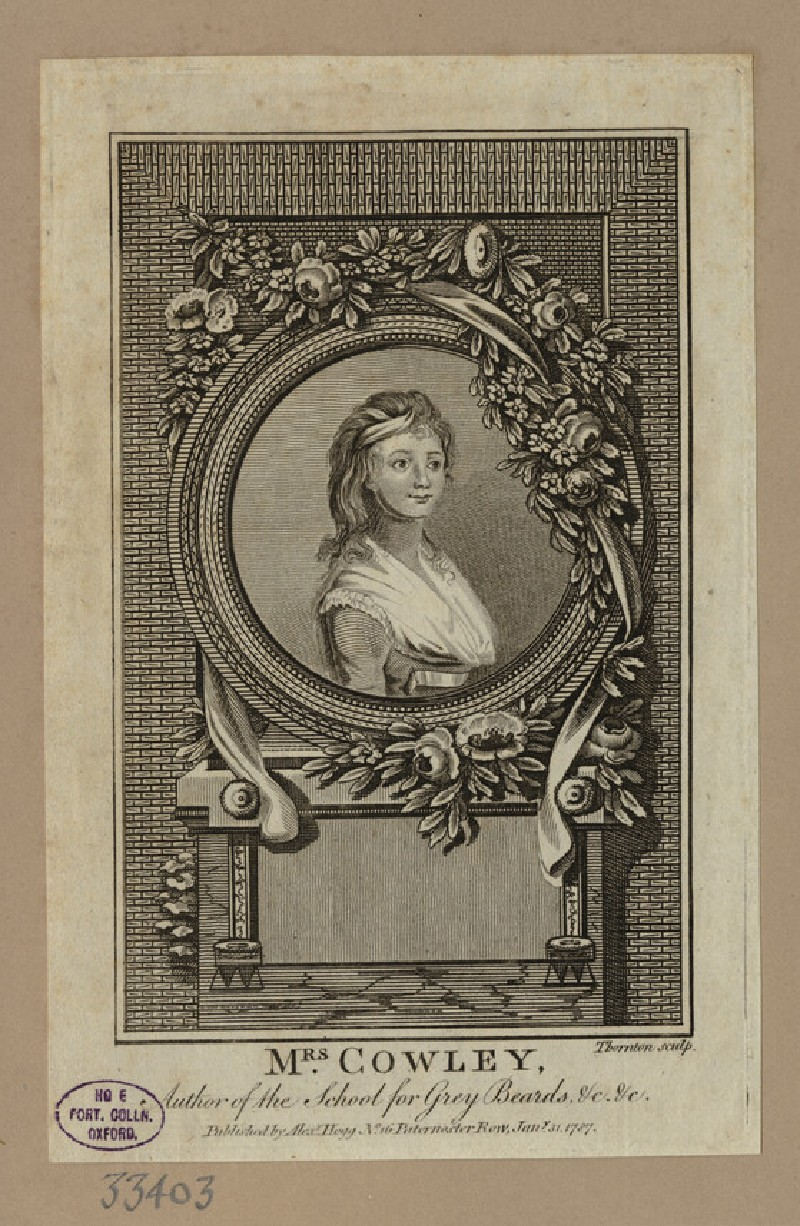 Portrait of Mrs Cowley