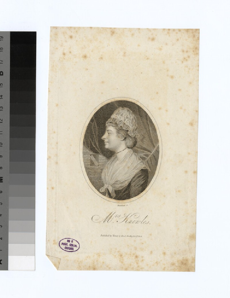 Portrait of Knowles. Mrs (WAHP33434)