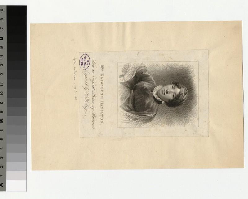 Portrait of Eliz Hamilton
