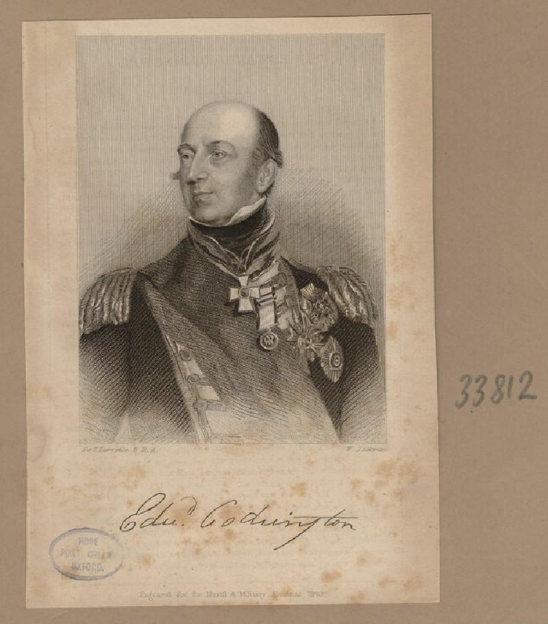 Portrait of Admiral E. Codrington