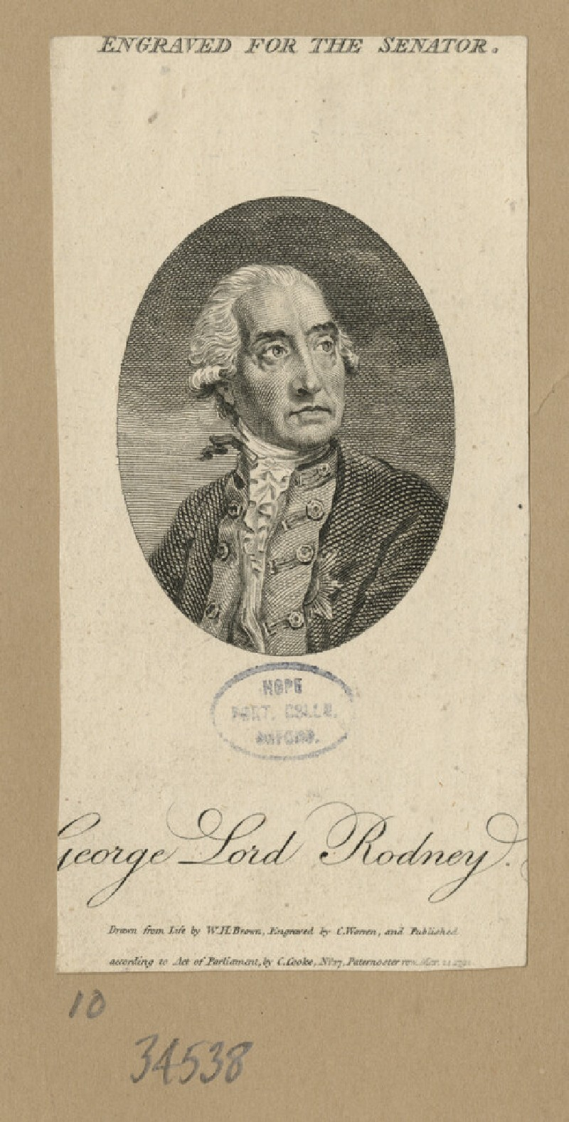 Portrait of Lord Rodney