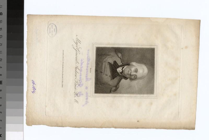 Portrait of MAj.Gen.A. Burn (WAHP34893)