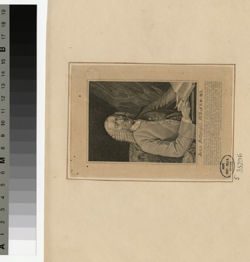 Portrait of Dr J. Fothergill (WAHP35206)