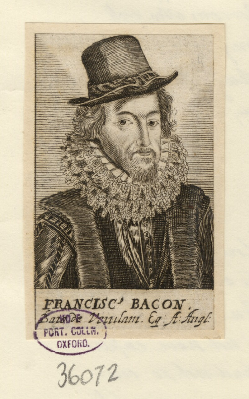 Portrait of F. Bacon