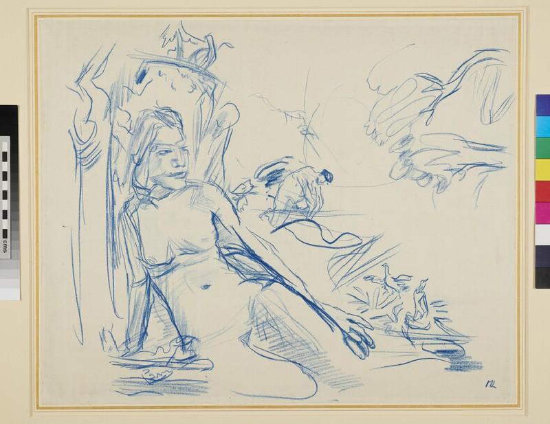 Recto: Bathing Women <br />Verso: Head of a Woman
