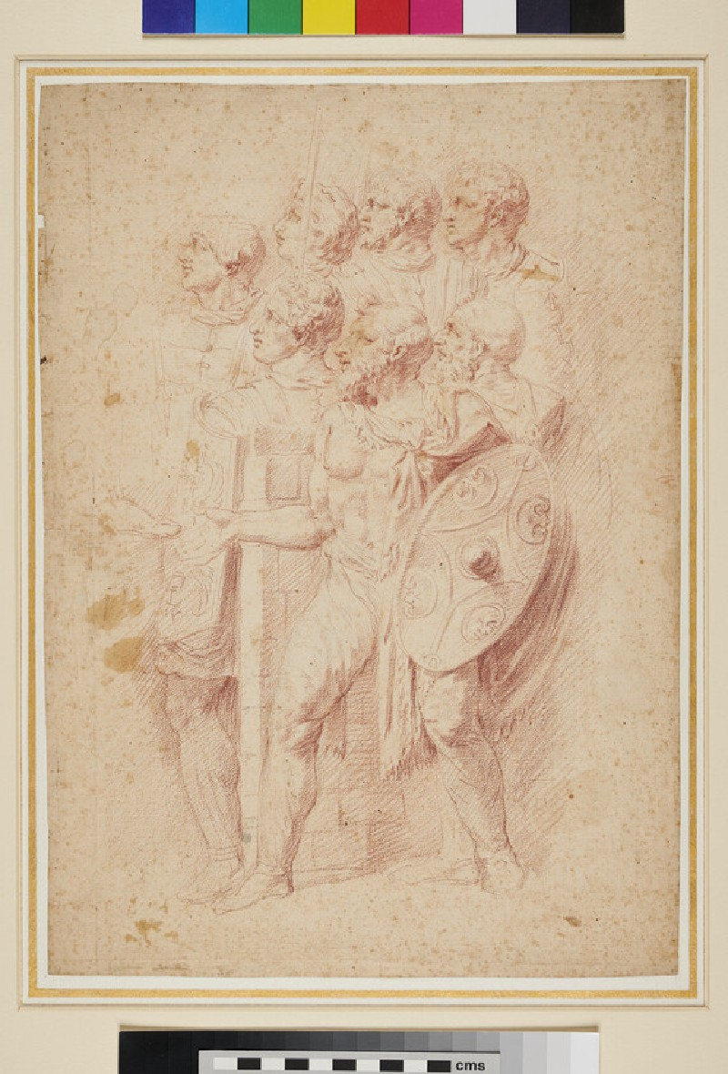 Recto: Classical Warriors <br />Verso: Frieze of classical Warriors