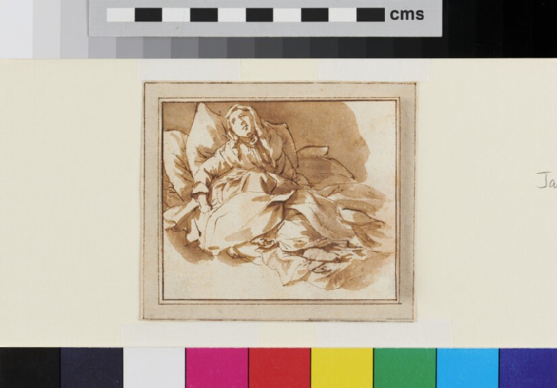 Recto: Study of a seated Woman 