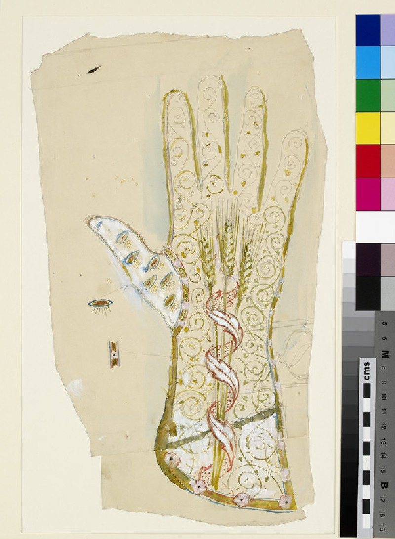 Design for an ecclesiastical glove (WA.OA1285)