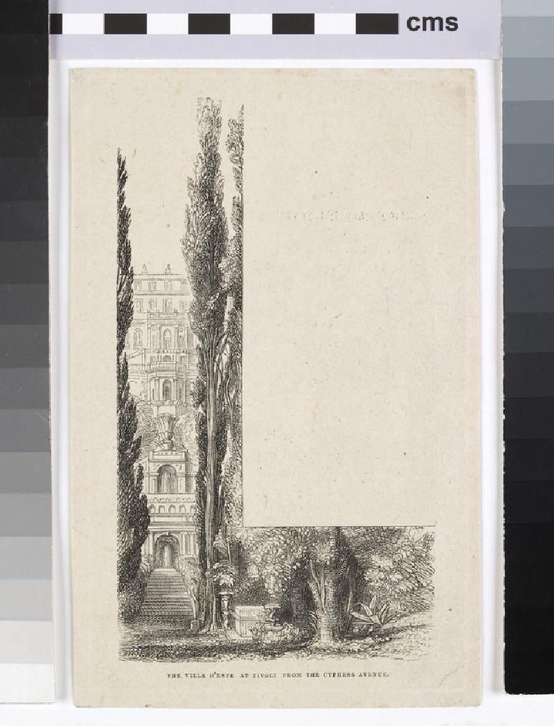 The Villa D'Este at Tivoli from the Cypress Avenue (WA1954.129)