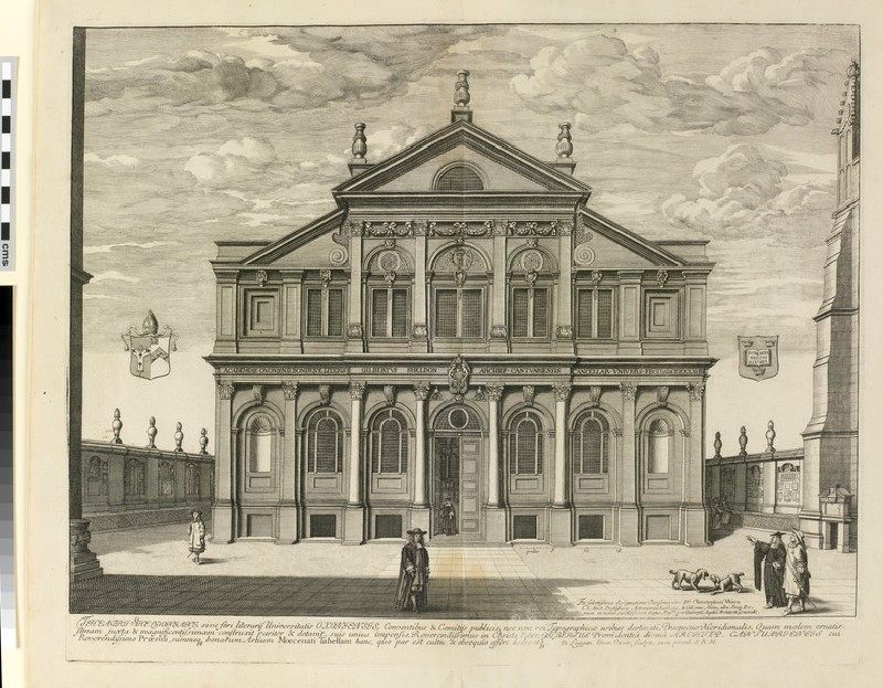 South Front of the Sheldonian Theatre, from 'Oxonia Illustrata' (1675) (WA2017.81)