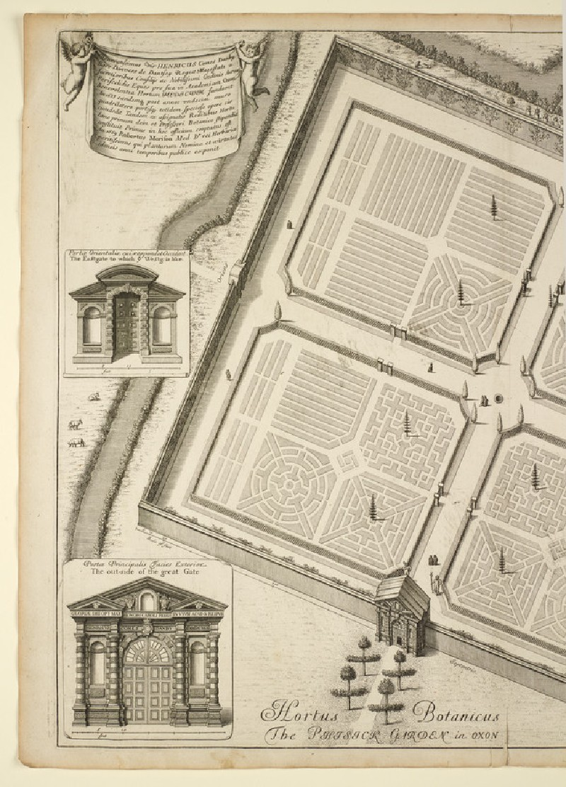 Hortus Botanicus, or the Phisick Garden (Botanic Garden), from 'Oxonia illustrata' (1675) (WA2017.85)