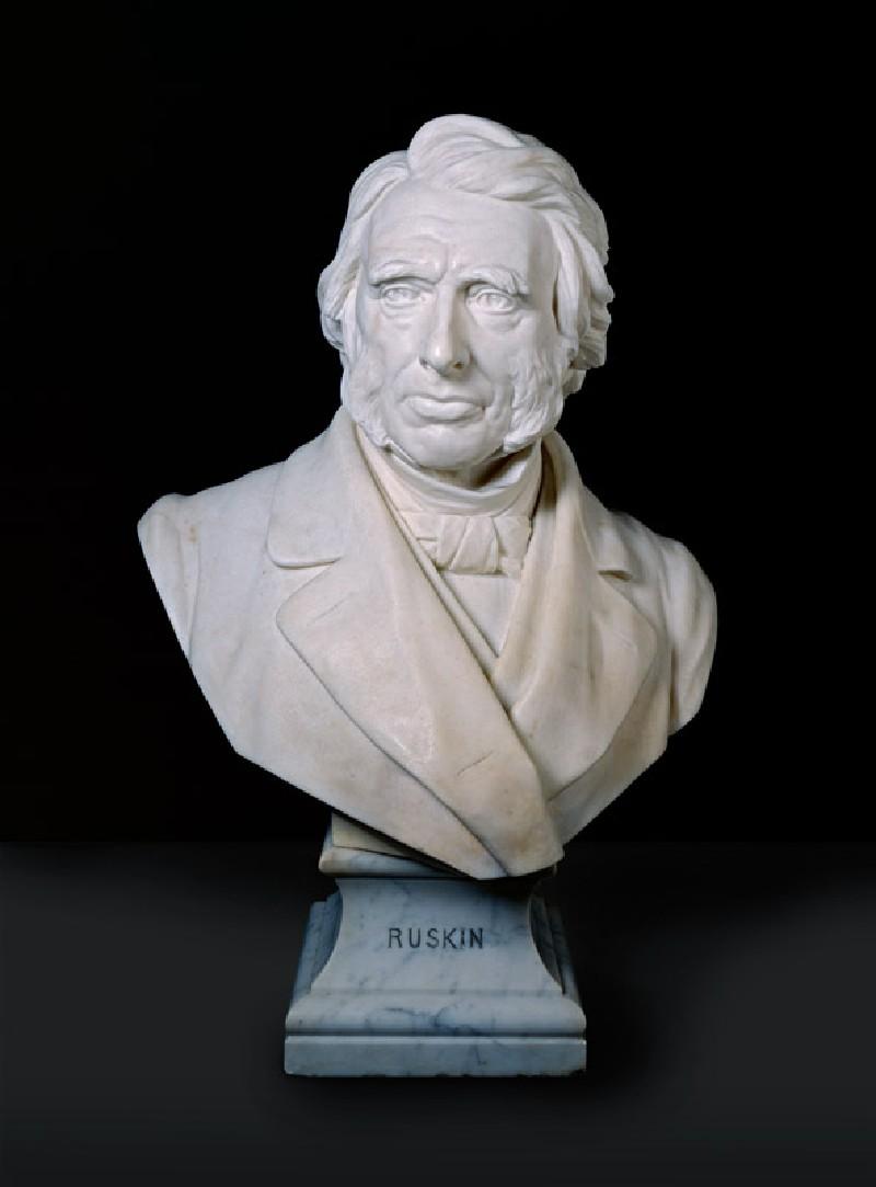 Portrait Bust of John Ruskin (WA2001.18, Boehm, Joseph Edgar, baronet - Portrait Bust of John Ruskin ())