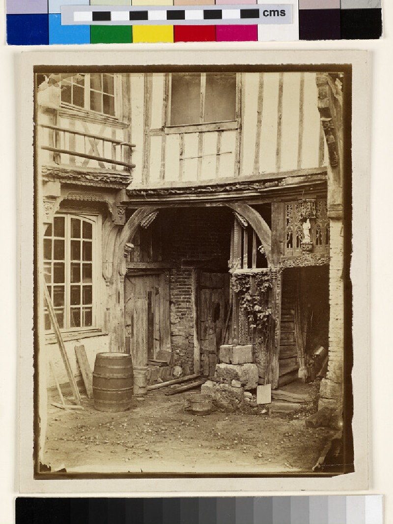 The Courtyard of a Late Gothic Wooden House at Abbeville