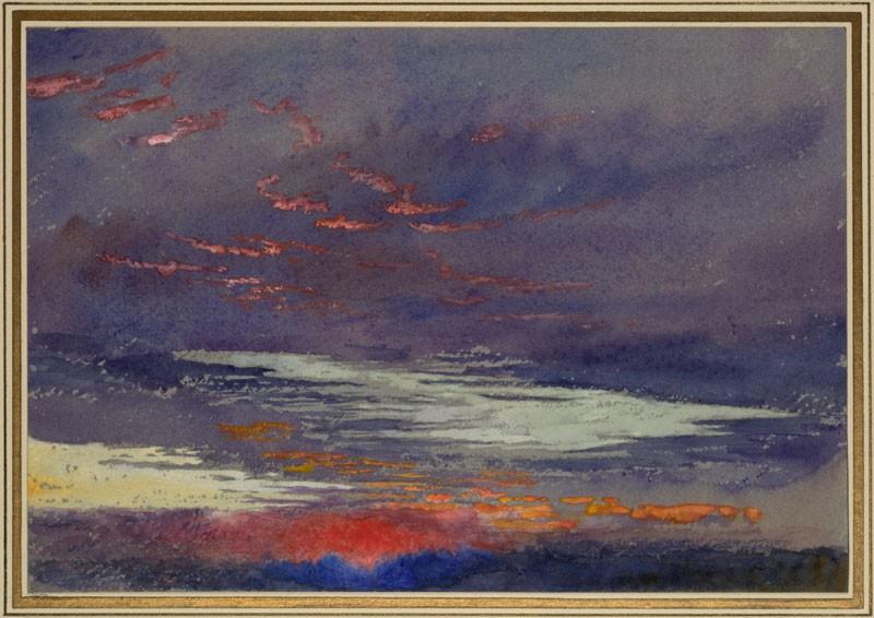 Study of Dawn: purple Clouds (WA.RS.ED.005, Ruskin, John - Study of Dawn: purple Clouds ())
