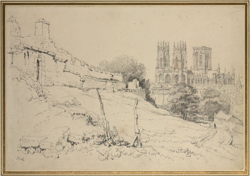 York Minster, with old Town Walls