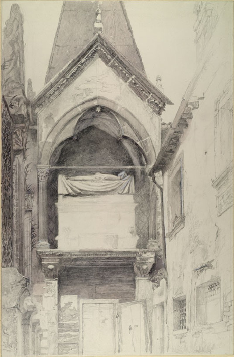 The Tomb of Cangrande I della Scala, Verona (WA.RS.ED.076, Ruskin, John - The Tomb of Cangrande I della Scala, Verona ())