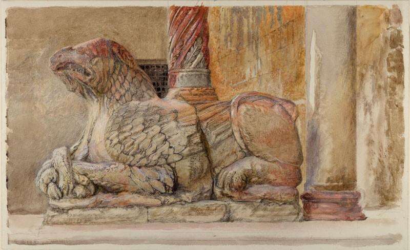 The Gryphon bearing the north Shaft of the west Entrance of the Duomo, Verona