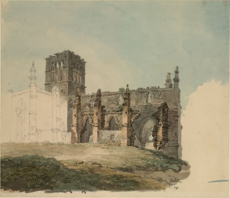 The Ruined Abbey at Haddington (WA.RS.ED.102, Turner, Joseph Mallord William - The Ruined Abbey at Haddington ())