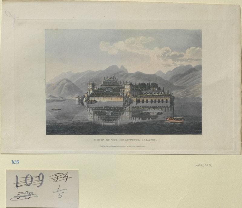 View of the Beautiful Island (Isola Bella, Lago Maggiore) (WA.RS.ED.103, Lory, Gabriel Ludwig, and Mathias Gabriel Lory - View of the Beautiful Island (Isola Bella, Lago Maggiore) ())