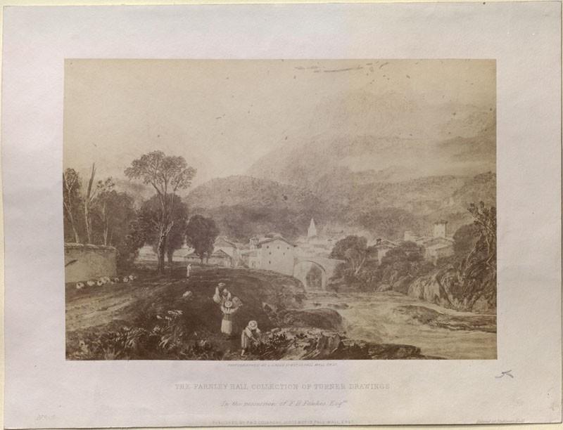 Photograph of Turner's 'Saint Martin and Salenche, Savoy'