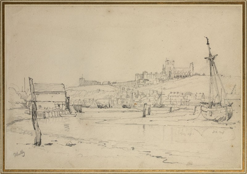 Recto: Whitby <br />Verso: Study of Trees