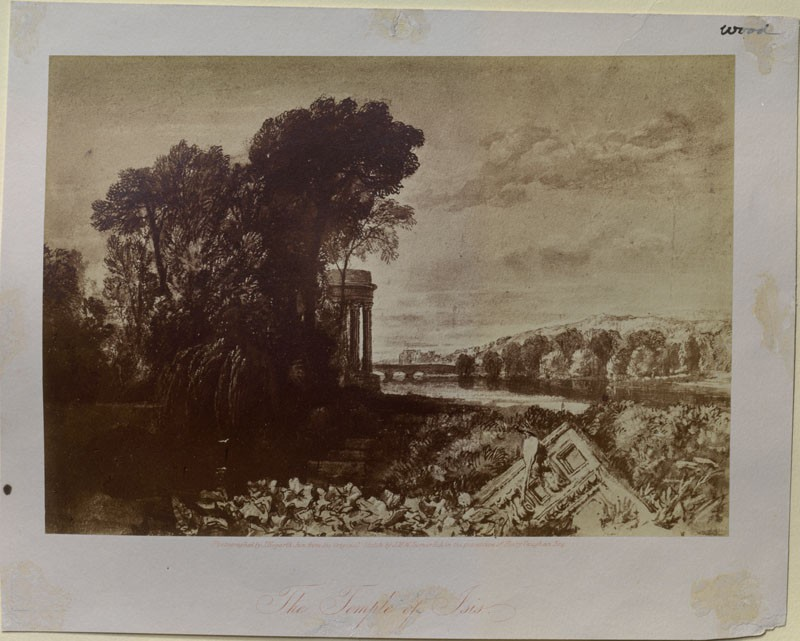 Photograph of Turner's 'Isis' (WA.RS.ED.137, Hogarth, J, junior - Photograph of Turner's