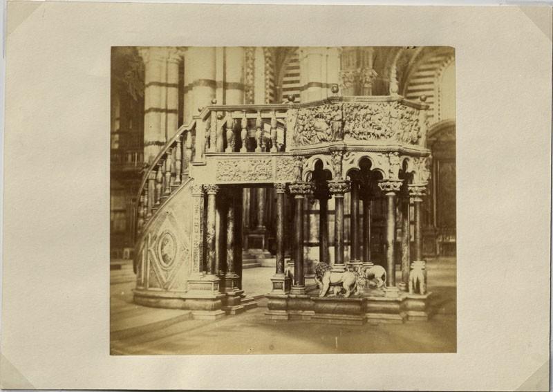 Photograph of Nicola Pisano's Siena Pulpit (WA.RS.ED.151, unidentified - Photograph of Nicola Pisano's Siena Pulpit ())