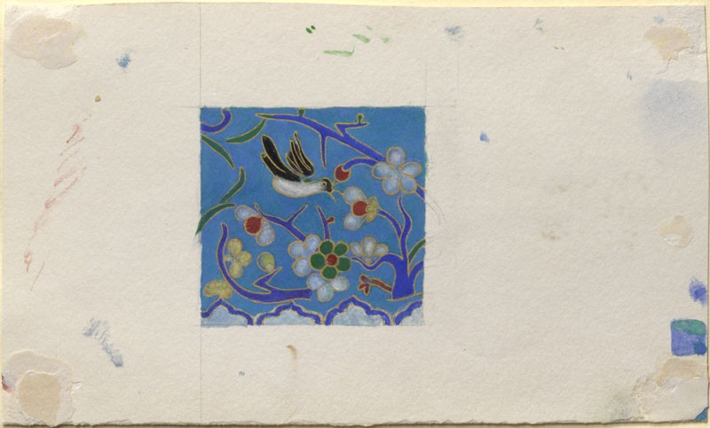 Study, for Colour, of a piece of Chinese Enamel (WA.RS.ED.202, Ruskin, John - Study, for Colour, of a piece of Chinese Enamel ())