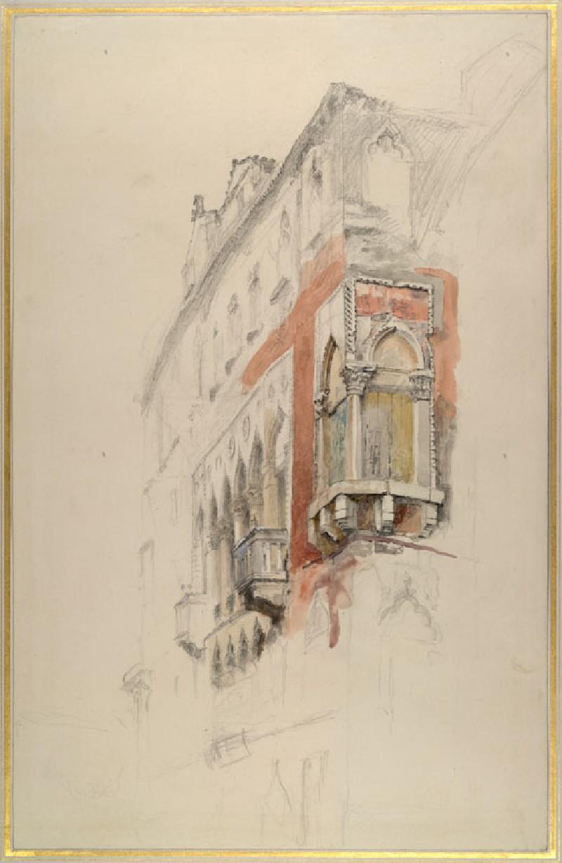Part of the Palazzo Priuli, Venice (WA.RS.ED.210, Ruskin, John - Part of the Palazzo Priuli, Venice ())