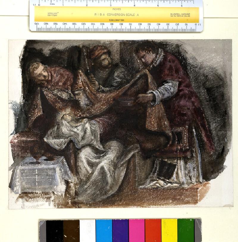 Study from Tintoretto's 'Circumcision' in the Scuola Grande di San Rocco (WA.RS.ED.225)