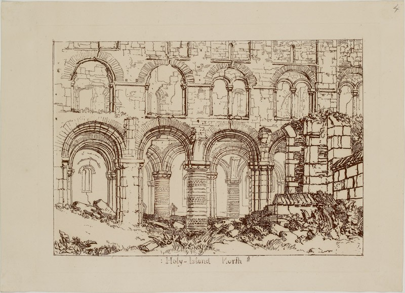 Holy Island Cathedral (from the Liber Studiorum) (WA.RS.ED.241, Turner - Holy Island Cathedral ())